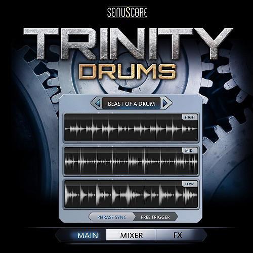 SONUSCORE Trinity Drums - Virtual Instrument (Download)