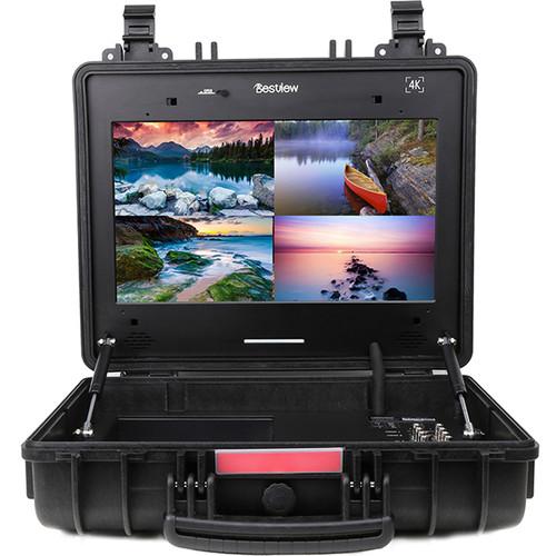 "Bestview 17"" Portable UHD 4K HDMI Quad-Split Broadcast Director's Monitor"
