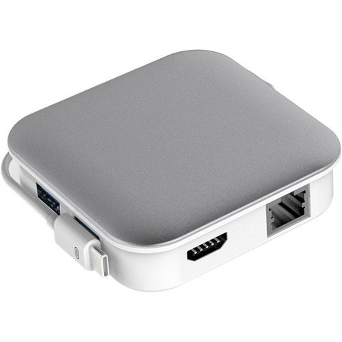 Bidul & Co. Ultimate Hub 2-Port USB 3.0 Hub with Ethernet, Card Reader, Charging, and HDMI (Silver)