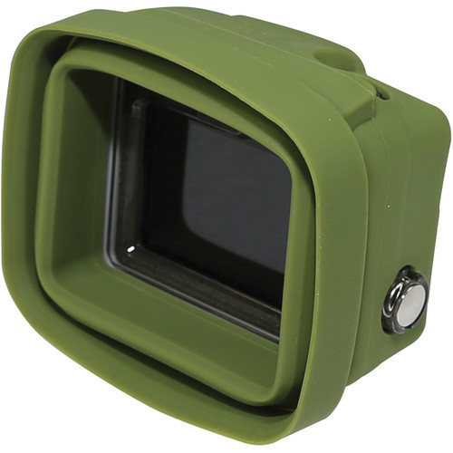 Big Balance My Shade S2 Collapsible Silicone Monitor Shade for GoPro HERO4 Silver with Standard Housing (Green)