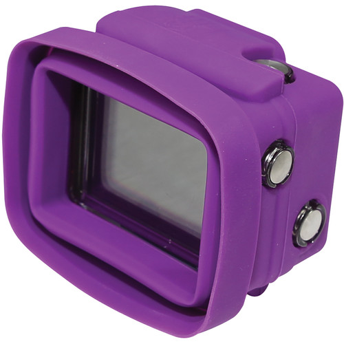 Big Balance My Shade S3 Collapsible Silicone Monitor Shade for GoPro HERO4 Black / 3+ / 3 with Standard Housing and LCD BacPac Backdoor (Purple)