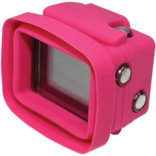 Big Balance My Shade S3 Collapsible Silicone Monitor Shade for GoPro HERO4 Black / 3+ / 3 with Standard Housing and LCD BacPac Backdoor (Pink)