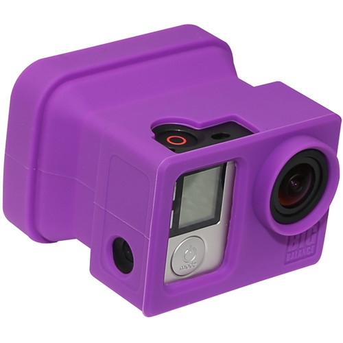 Big Balance My Shade S4 Collapsible Silicone Monitor Shade for GoPro HERO4 Silver (Purple)
