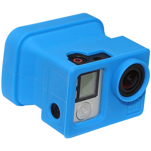 Big Balance My Shade S4 Collapsible Silicone Monitor Shade for GoPro HERO4 Silver (Blue)