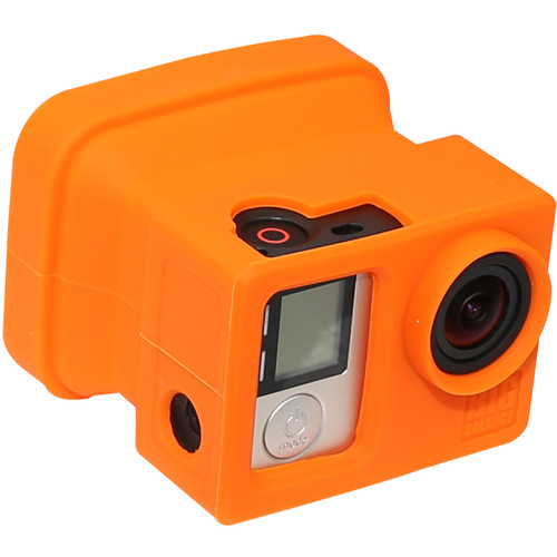 Big Balance My Shade S4 Collapsible Silicone Monitor Shade for GoPro HERO4 Silver (Orange)