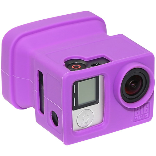 Big Balance My Shade S5 Collapsible Silicone Monitor Shade for GoPro HERO4 Black / 3+ / 3 and LCD BacPac Backdoor (Purple)