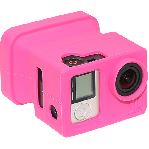 Big Balance My Shade S5 Collapsible Silicone Monitor Shade for GoPro HERO4 Black / 3+ / 3 and LCD BacPac Backdoor (Pink)
