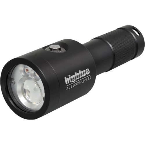 Bigblue 1100 Lumens Auto Flash Off and Red LED Dive Light