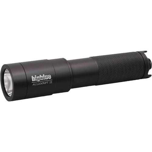 Bigblue AL1200NP-II Narrow Beam Dive Light with Tailcap Switch (Black)