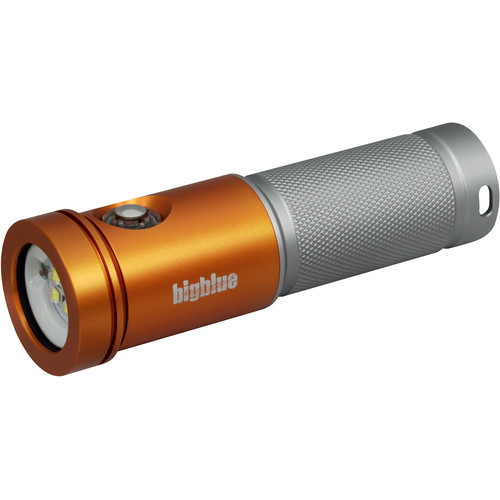 Bigblue AL2600XWP Molly 3 Photo/Video LED Dive Light (Orange and Silver)