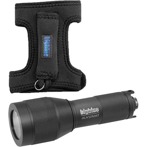 Bigblue AL450NMT Mini LED Dive Light with Narrow Beamand Goodman Glove (Black)