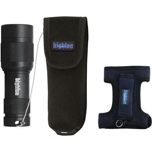 Bigblue AL450WM Mini LED Light with Goodman Glove and Pouch (Black)