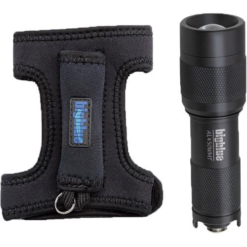 Bigblue AL450WMT Mini LED Dive Light with Wide Beamand Goodman Glove (Black)
