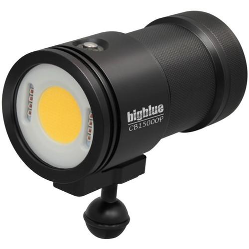 Bigblue 15000-Lumen Warm White Video Dive Light