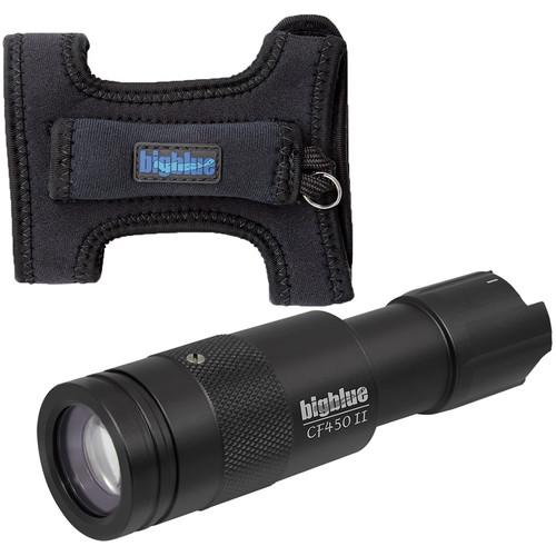 Bigblue 450-Lumen Adjustable-Beam Dive Light (Diving Glove, Black)