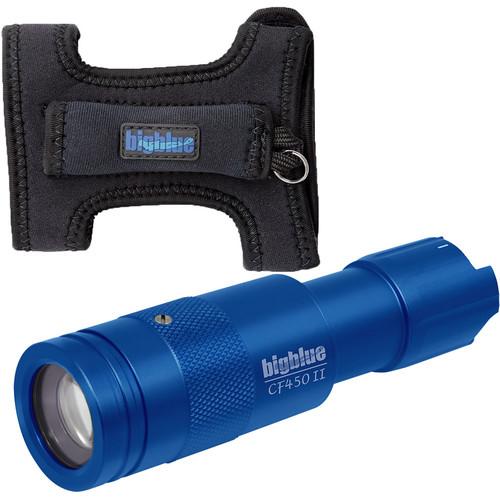 Bigblue 450-Lumen Adjustable-Beam Dive Light (Diving Glove, Blue)