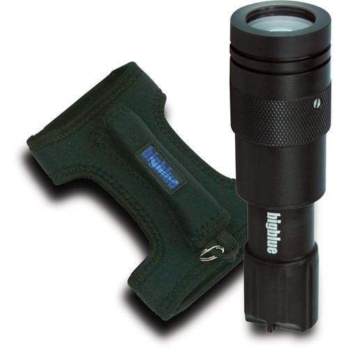 Bigblue Black CF450 LED Dive Light with Neoprene Goodman-Style Glove