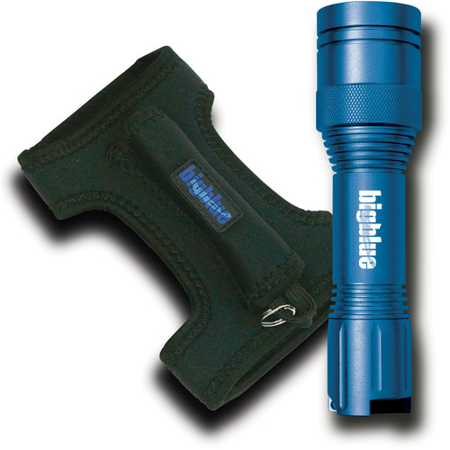Bigblue Blue CF450 LED Dive Light with Neoprene Goodman-Style Glove