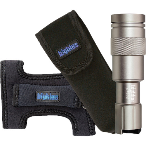 Bigblue CF450 LED Dive Light with Goodman Glove and Pouch (Silver)
