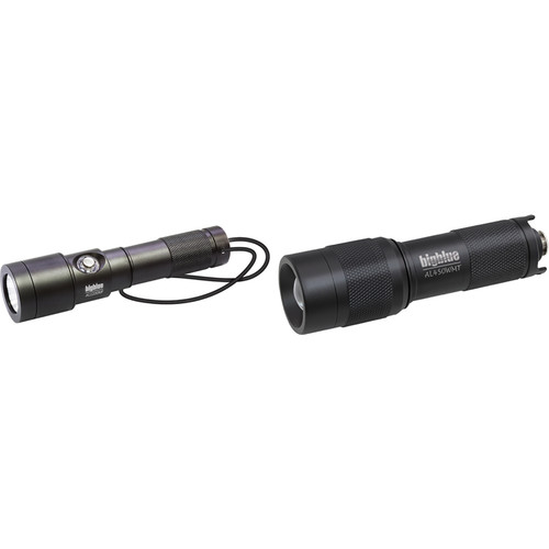 Bigblue AL450WMT Wide and AL1200NP Narrow LED Dive Light Combo Pack (Black)