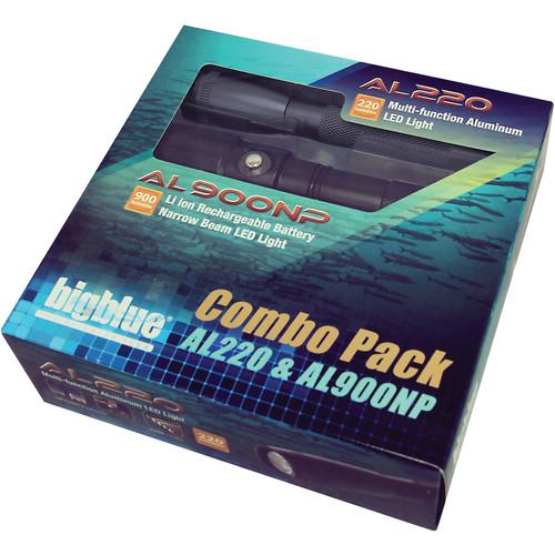 Bigblue AL220 and AL1000NP Dive Light Combo Pack (Black)