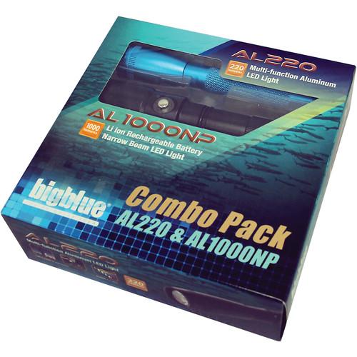 Bigblue AL220 and AL1000NP Dive Light Combo Pack (Blue)