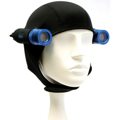Bigblue Neoprene Hood with 2 Light Holsters for Mini Lights (Black)