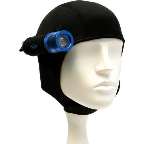 Bigblue Neoprene Hood with 1 Light Holster for Mini Lights (Black)