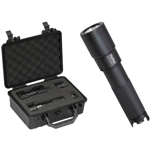 Bigblue AL1200NPT LED Dive Light with Narrow Beam and Protective Case (Black)