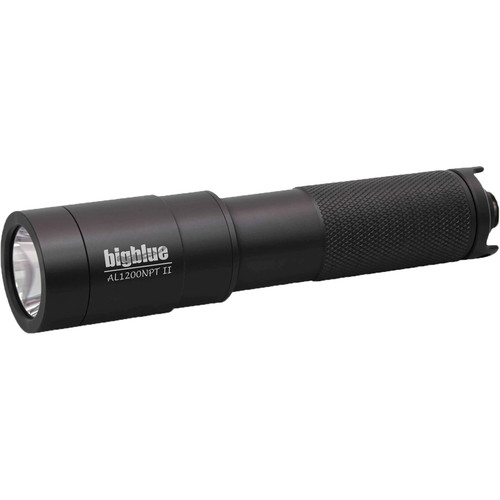 Bigblue AL1200NP-II Narrow Beam Dive Light with Tailcap Switchand Hard Case (Black)