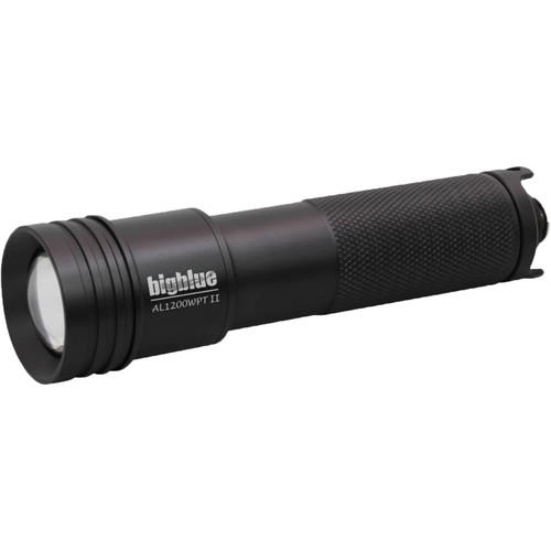 Bigblue AL1200WPT-II Wide Beam LED Dive Light with Tailcap Switchand Hard Case