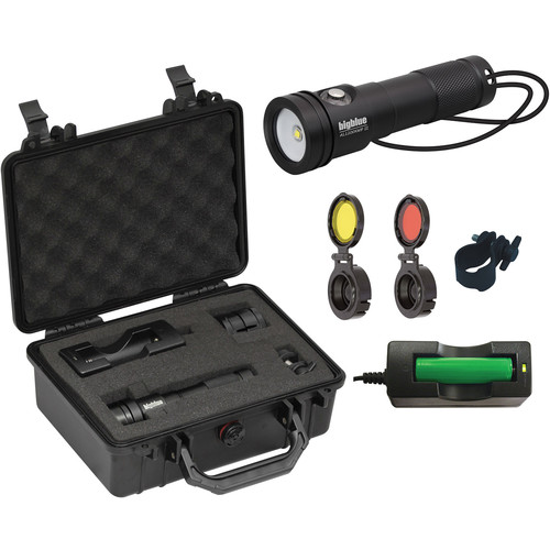 Bigblue AL1200XWP-II Extra-Wide Beam LED Dive Light with Side Switchand Hard Case