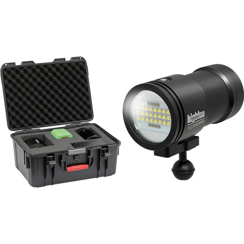 Bigblue VL15000P-PRO MINI Video LED Dive Light with Protective Case (Black)