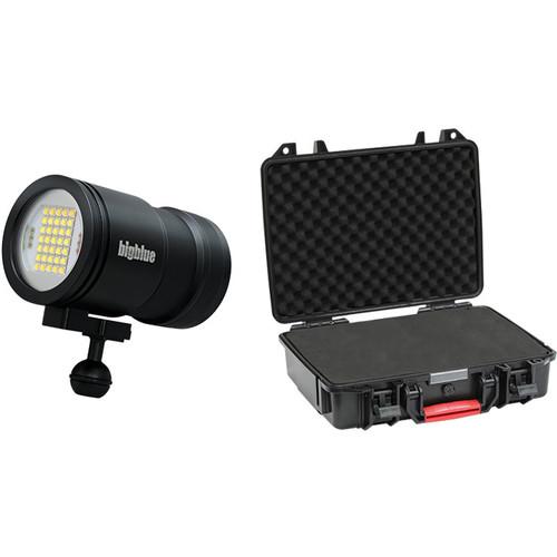 Bigblue VL15000P-Pro Tri-Color Mini Video LED Dive Light with Protective Case