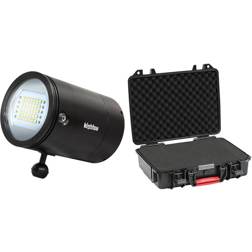 Bigblue VL33000P Mini Video LED Dive Light with Protective Case (Black)