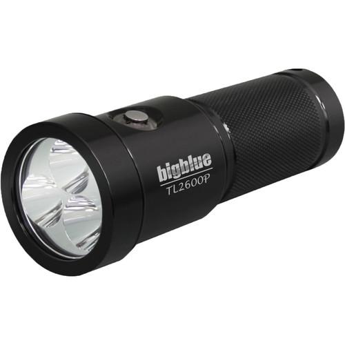 Bigblue TL2600P Rechargeable Dive Light (Black)