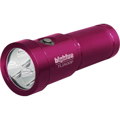 Bigblue TL2600P Rechargeable Dive Light (Pink)