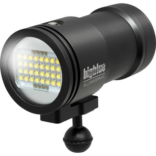 Bigblue VL15000P-Pro Tri-Color Mini Video LED Dive Light (Black)