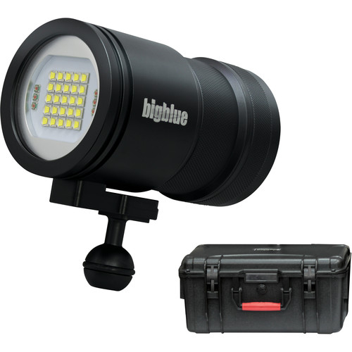 Bigblue VL15000P Pro Video LED Dive Light with Protective Case (Black)