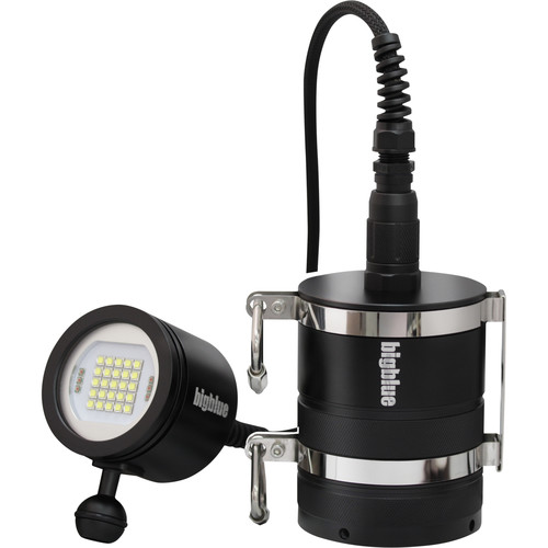 Bigblue VL15000PC Pro Video LED Dive Light with Canister Battery Pack