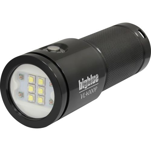Bigblue VL4000P Video LED Dive Light (Glossy Black)