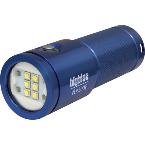 Bigblue VL4200P Rechargeable Dive Light (Blue)