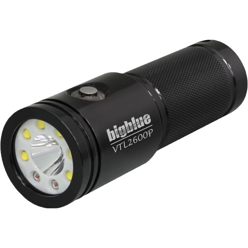 Bigblue VTL2600P Wide/Narrow Dual Beam Dive Light (Black)