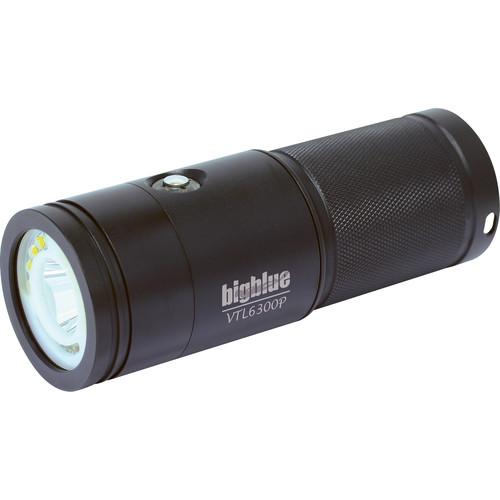 Bigblue VTL6300P Video/Technical LED Dive Light (Black)