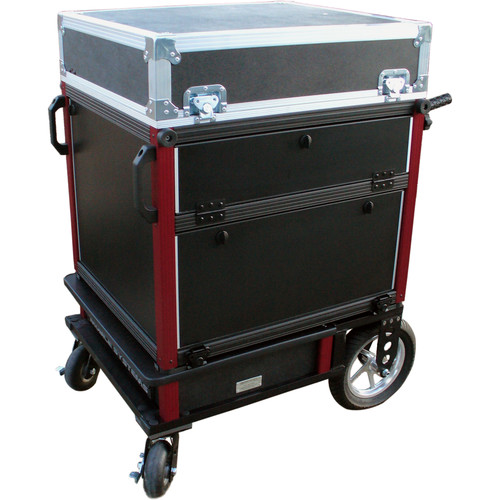 BigFoot Side Style Operation Cart with Adjustable In-Lid Monitor Mount for Select Computers (14RU, 24D)