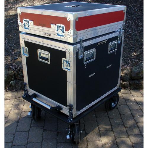 """BigFoot BH10RU/24D 10RU 22"""" Rack Wide Roadie Cube Cart"""