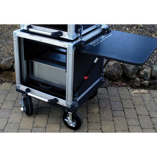 """BigFoot BH12RU/24D 12RU 22"""" Rack Wide Roadie Cube Cart"""