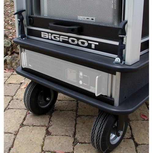 "BigFoot 2RU Rack Base Assembly with 8"" Wheels"