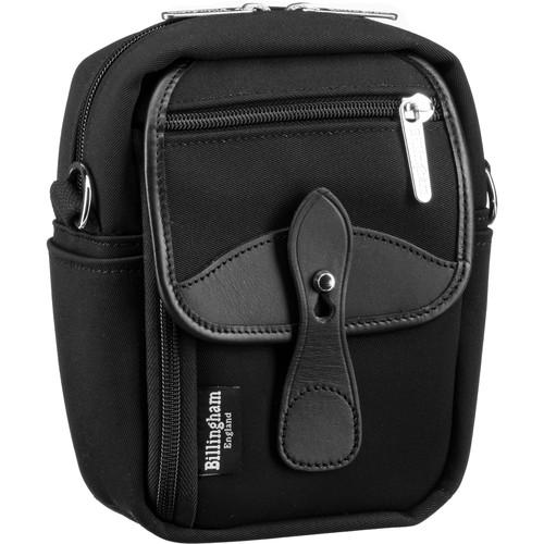 Billingham Stowaway Compact Shoulder Bag (Black/Black Leather)