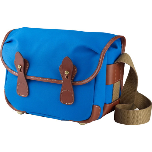 Billingham L2 Camera Bag (Imperial Blue Canvas & Tan Leather Trim)